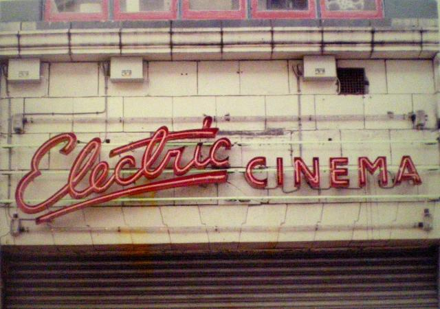 The Electric Cinema signage from the 1970s. Image from Soho House photo gallery.