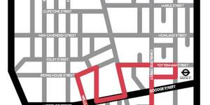 Follow The Fitzrovia Noir Intervention Art Trail