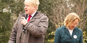 Boris Johnson Opens New Winter Garden in Battersea Park