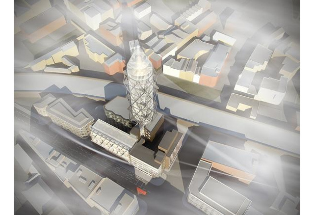 Rocket-Shaped Tower Proposed For Southwark