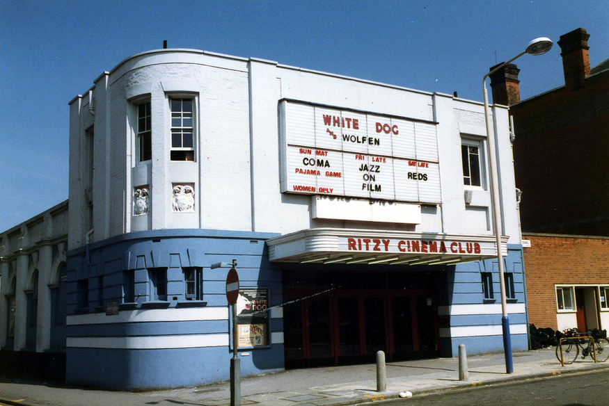 The Ritzy as it was in 1984.  Photo © dusashenka (http://www.flickr.com/photos/oldcinemaphotos/)