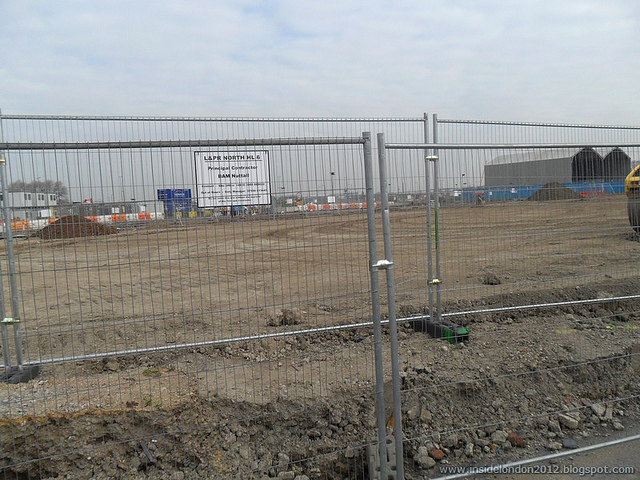 Site of hockey pitches on Olympic Park by Andy Wilkes (taken 22 March 2011)