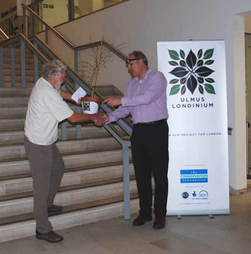 David Bellamy was celebrity naturalist at the Natural History Museum last night, gifting the museum a young elm of its own to mark the launch of the programme.