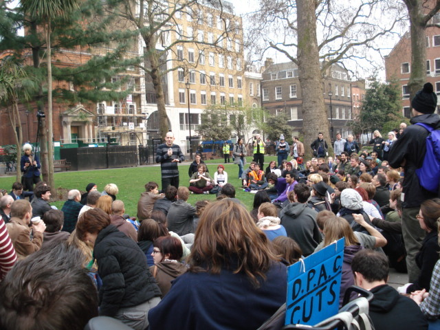 Chris Coltrane hosts the UK Uncut comedy bail in at Soho Square / Rachel H