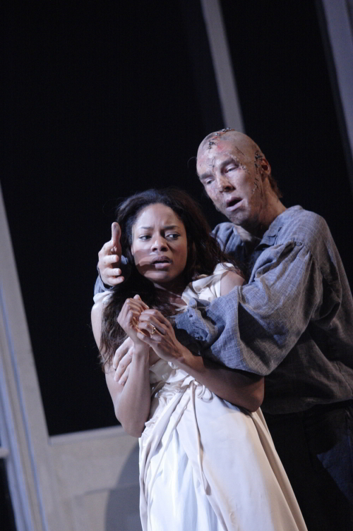 Naomi Harris - Elizabeth, Benedict Cumberbatch - The Creature / photo by Catherine Ashmore