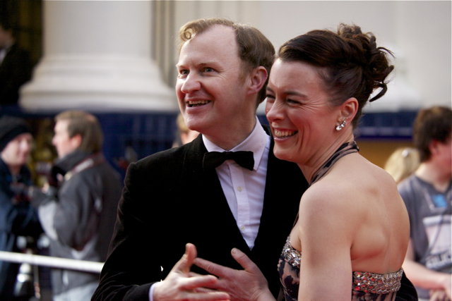 Mark Gatiss with Olivia Williams who will be appearing in Neil Labute's A Forest Dark And Deep from this week.