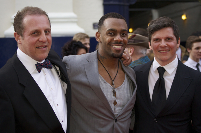 Stars of the upcoming Shrek The Musical (from left): Nigel Lindsay, Richard Blackwood and Nigel Harman.