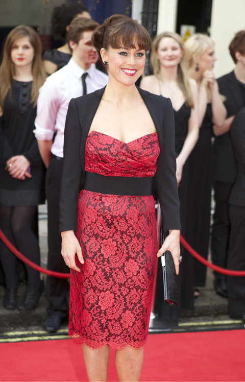 Jill Halfpenny, winner of Best Supporting Actress In A Musical for her role in Legally Blonde.