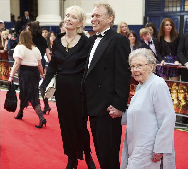 Lindsay Duncan accompanies her husband Hilton McRae who was nominated for his part in Over The Rainbow at the Trafalgar Studios.