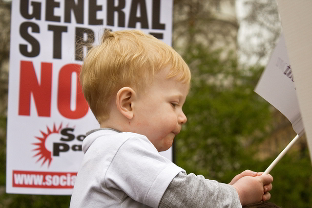 Toddlers against the cuts / laurakh2004 from the Londonist Flickr pool