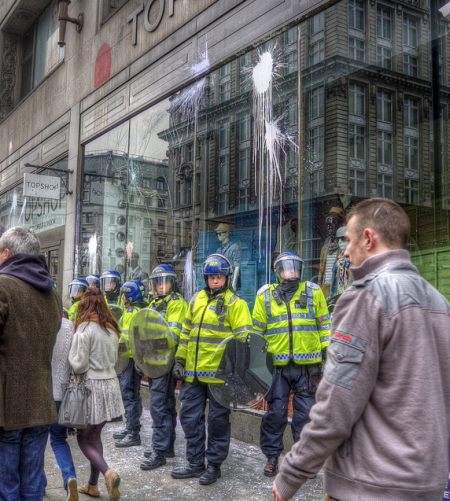 The scene at TopShop / yorkshire stacked from the Londonist Flickr pool