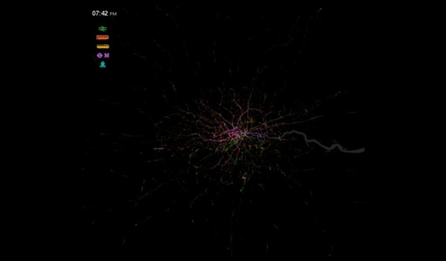 Visualisation: The Ebb And Flow Of London's Public Transport