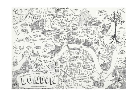 Map of London by Anika Mottershaw
