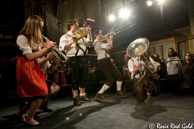 Oompah Brass were perhaps the real stars of the show, providing excellent tuneage / photo by Rosie Reed Gold