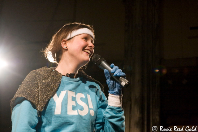 Josie Long says YES! / photo by Rosie Reed Gold