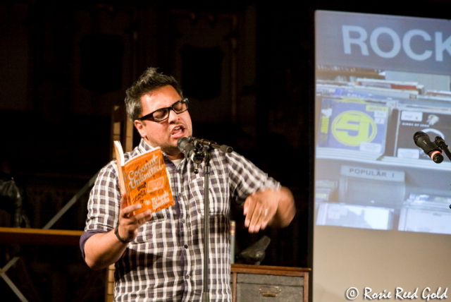 Nikesh Shukla shows his hip hop moves / photo by Rosie Reed Gold