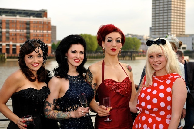 Bettsie Bon Bon, LouLou D'vil, Luna Rosa and Cherry Shakewell