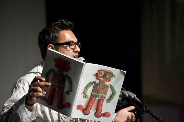 Nikesh Shukla tells us how he built the DanceBot 3000 / photo by Rosie Reed Gold