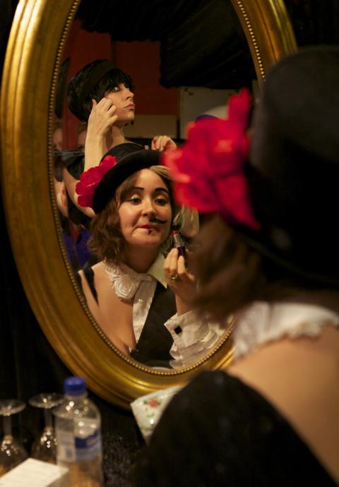 EastEnd Cabaret's Victor Victoria (bottom) and Bernadette Byrne (top)