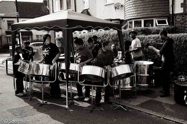 Steel band at Hilworth Road street party, Tulse Hill by Viramati