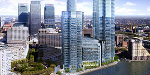 Work Resumes On Canary Wharf's Tallest Building