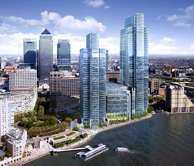 Work Resumes On Canary Wharf S Tallest Building Londonist