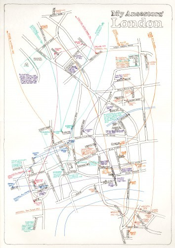 Hand-Drawn Maps Of London: Genealogical Map