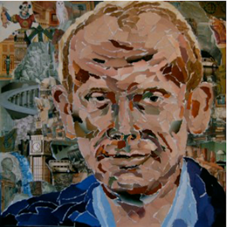 Paper portrait of Andrew Marr