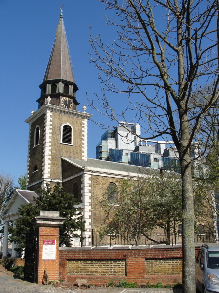 """p44: """"The great factories and towering flats loomed around the tiny octagonal steeple of St Mary's like idiots surprised by beauty."""""""