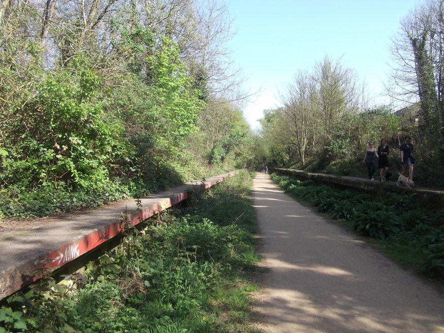 Ever walked along this abandoned railway in north London?