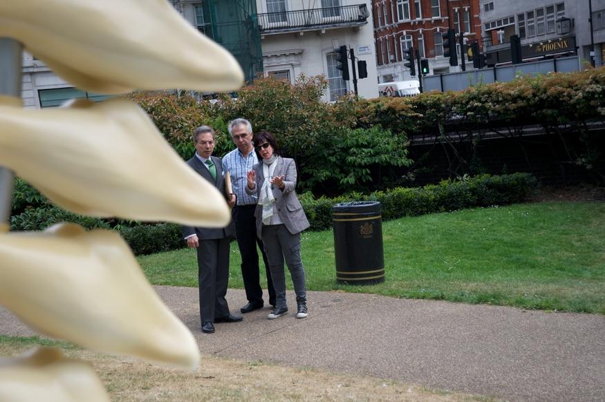 Jill Berelowitz and Cllr Robert Davis, Westminster Council's Deputy Leader discuss the work