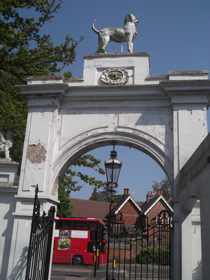 Entrance to Bourne Hall Park.