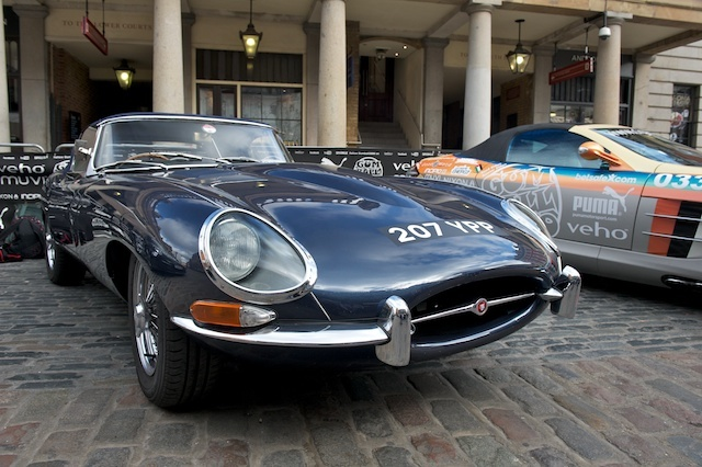 E Type Jaguar - Probably the oldest car here