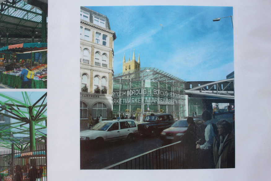 Visual of the planned Borough Market shopfront in the new space created by the viaduct