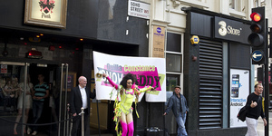 In Pictures: Quilla Constance Protest Performance Outside Punk Soho