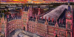 Beautiful Drawing Of St Pancras For Sale