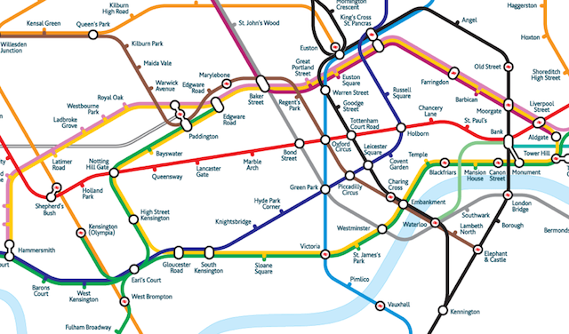 Alternative Tube Maps: A New Geographic Map | Londonist