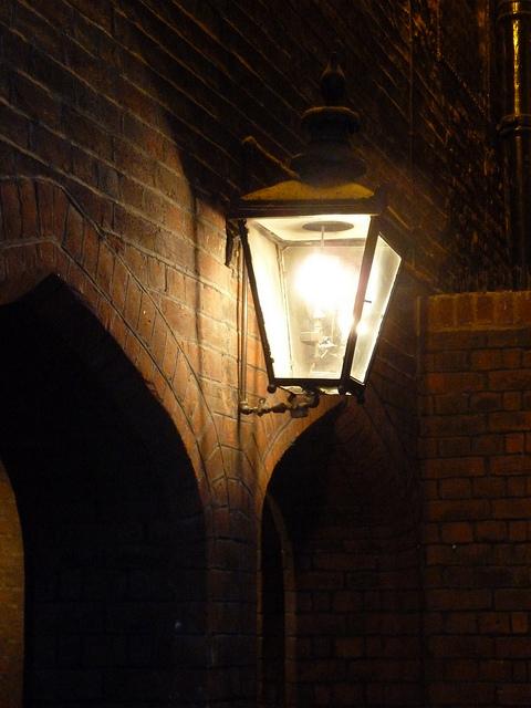 Gaslight in Lincoln's Inn.