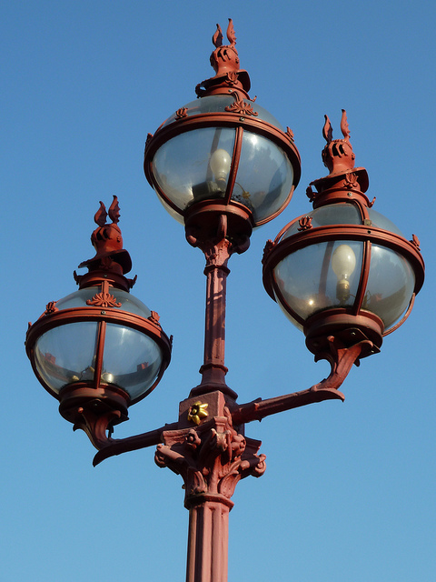 Those Python-esque Victorian gaslights from Holborn Viaduct.