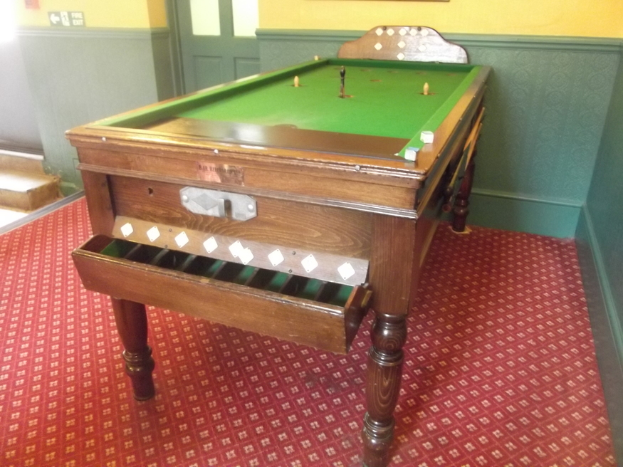 Bar billiards in the Dog and Bell.