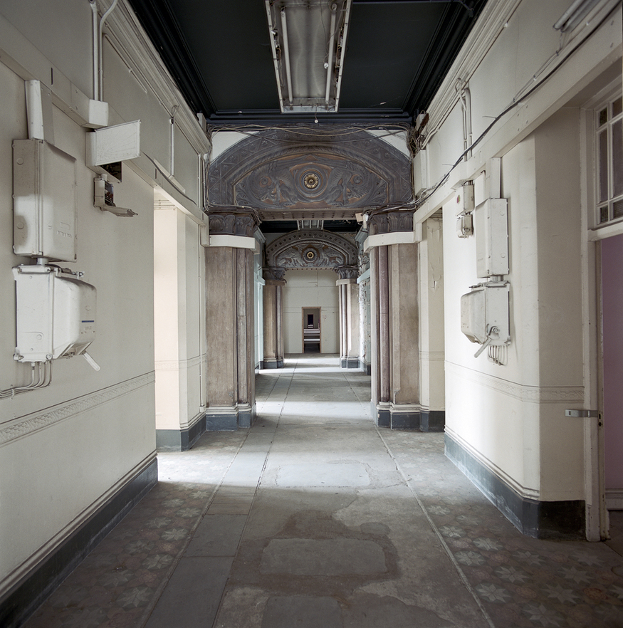 A corridor before restoration.