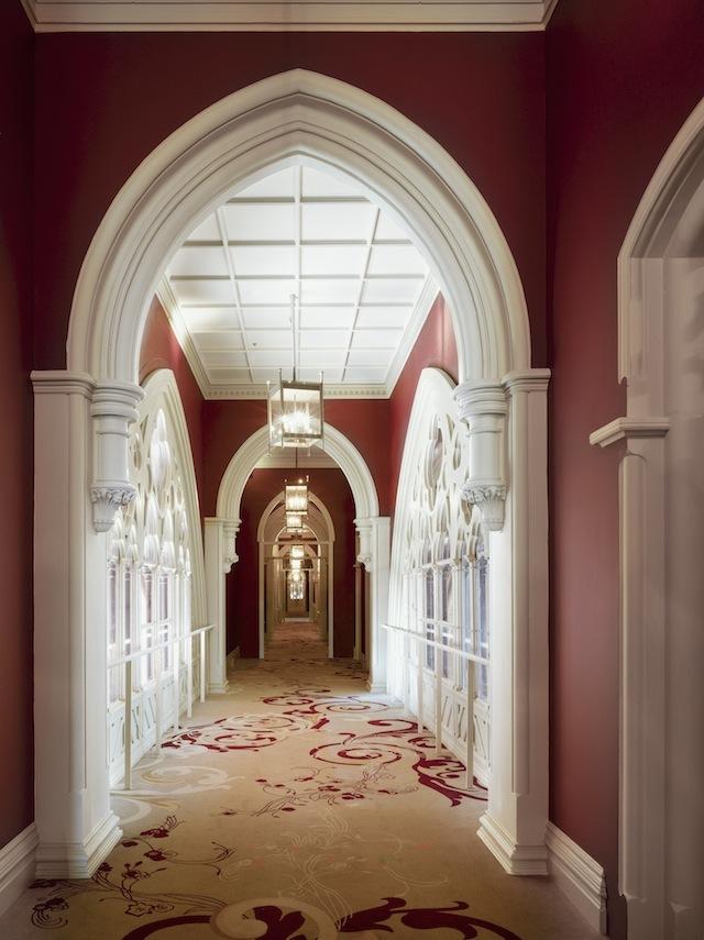 A corridor after restoration.