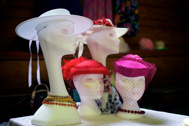 Some of the hats from Glow's stall.
