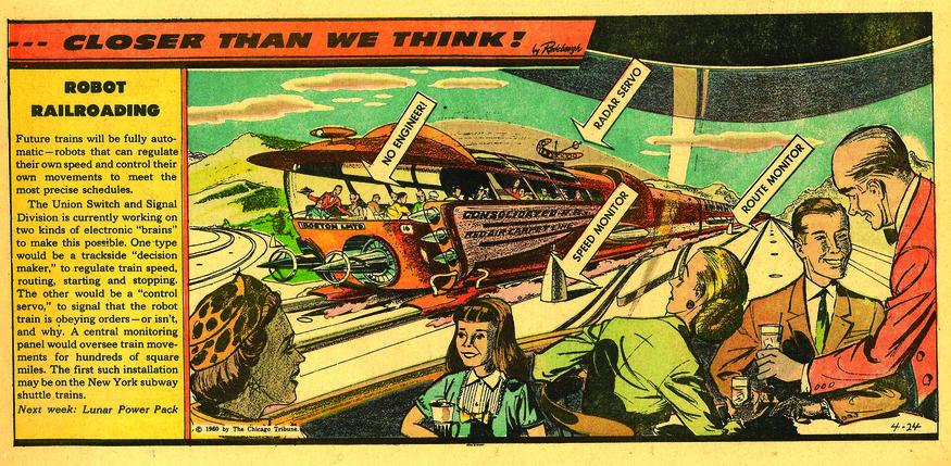 Robot Railroading, Arthur Radebaugh, 1960