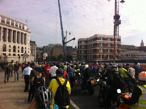 The previous Blackfriars Protest ride, photo by ibikelondon.com