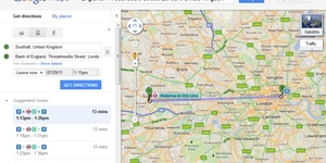 Google Maps Builds Waterloo And City Line Extension