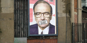 Anti-Rupert Murdoch Poster On City Road
