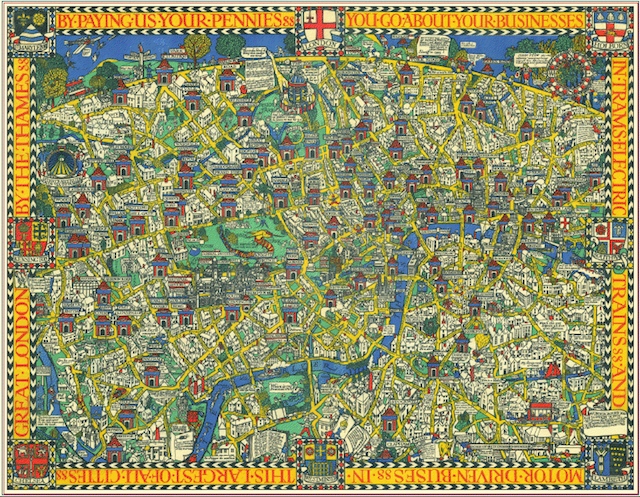 London Town Map.The Wonderground Map Of London Town Londonist