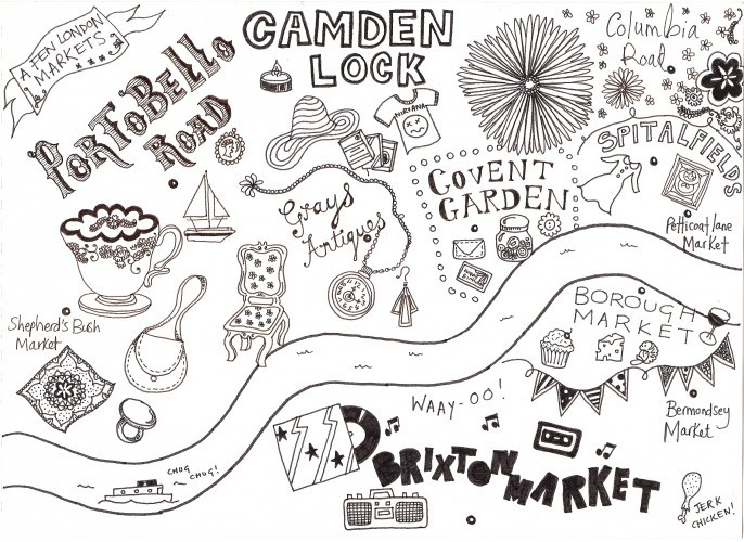 Hand-Drawn Maps of London: Markets