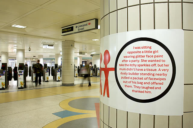 Michael Landy's Acts Of Kindness Art Project Opens On The Central Line